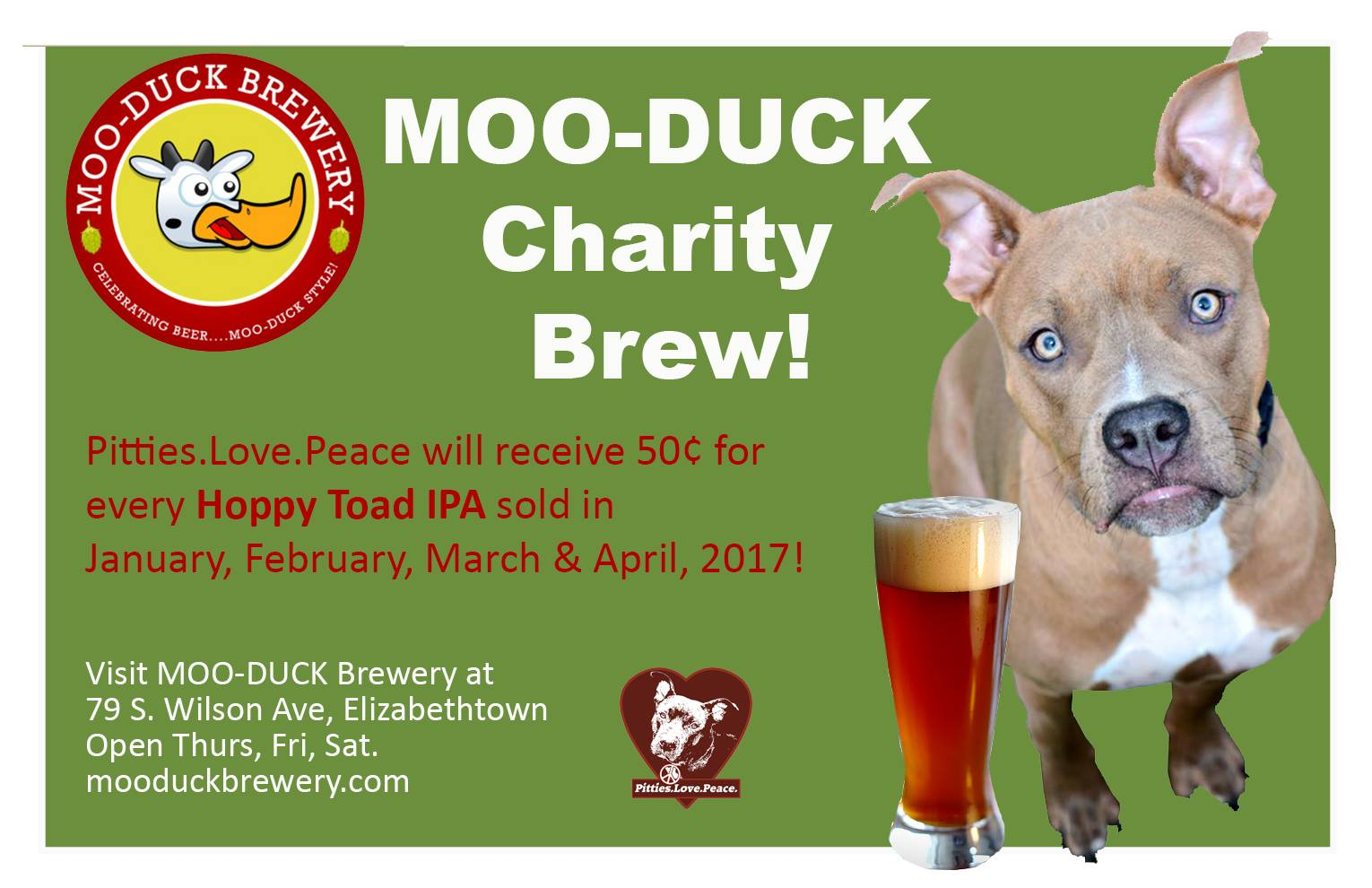Moo-Duck Pittie Party - 4/29 - 12-9pm