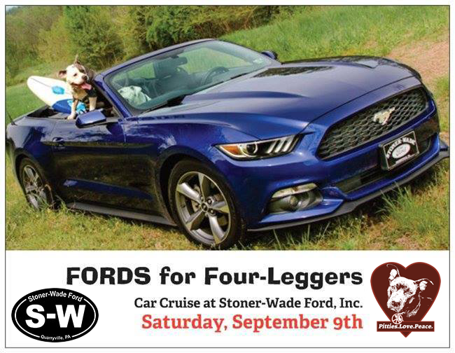 FORDS for Four-Leggers Event, Sept 9th
